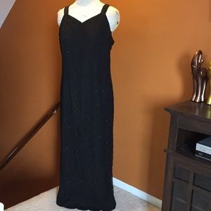 Vintage silk beaded plus size gown
